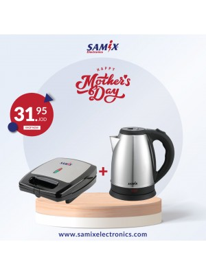 Samix Sandwich Maker 1400W & Samix Electric kettle 1800w