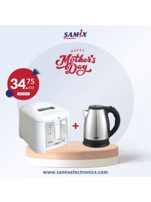 Samix Electric kettle 1800w & Samix Deep Fryer 1650W 2.5L