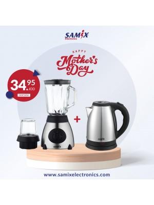 Samix Blender 350w & Samix Electric kettle 1800w