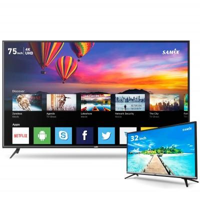 SAMIX 75 inch TV inch + 32 inch TV